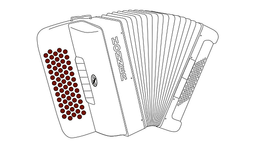 The smallest free-bass button accordion: HOHNER - enjoy music